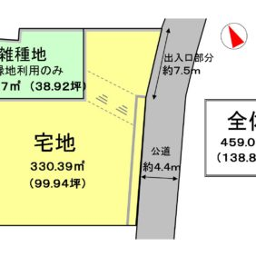 【土地】中区幸 -建築条件なし・100坪以上-